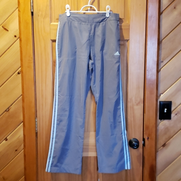 Adidas Pants, Light gray with light blue, Size M